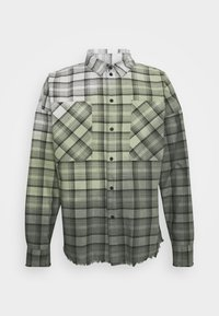 RAPHAEL - Shirt - black/mosstone/concrete grey