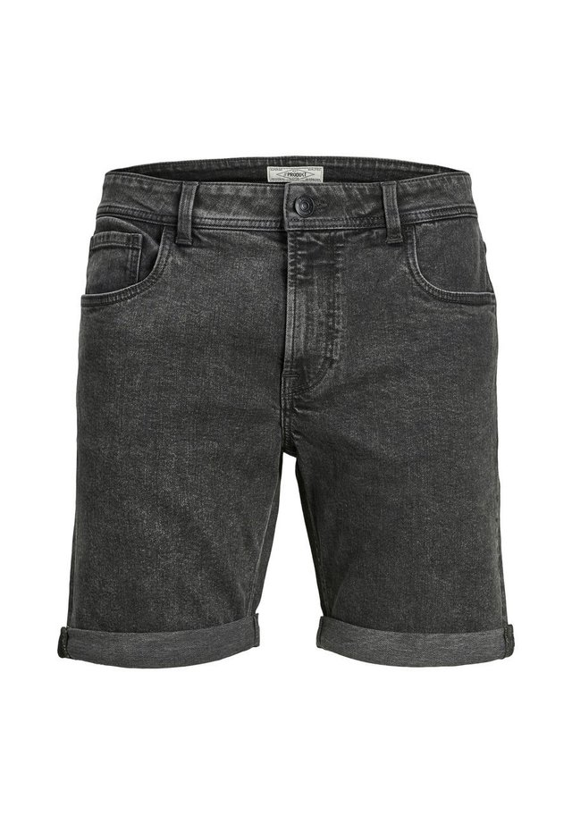 Denim shorts - dark grey denim