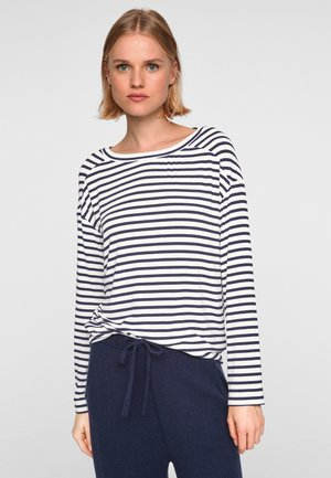 Long sleeved top - navy stripes