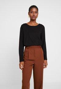 Anna Field - BASIC - Langærmede T-shirts - black - 0