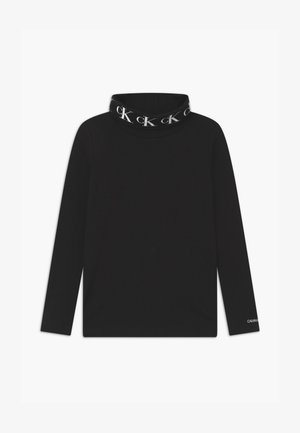 STRETCH MONOGRAM ROLLNECK  - Long sleeved top - black