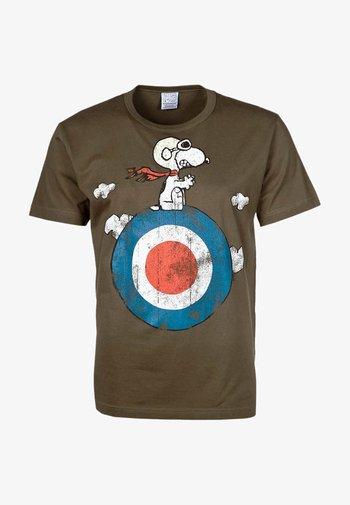 PEANUTS - SNOOPY/TARGET - Print T-shirt - olive