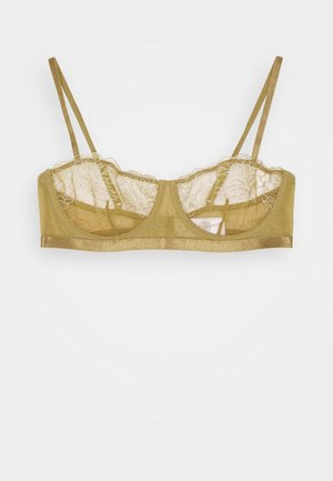 EMBROIDED SIDE STRAP BRA - Reggiseno a balconcino - olive green