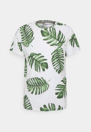 TEE - T-shirt med print - snow white