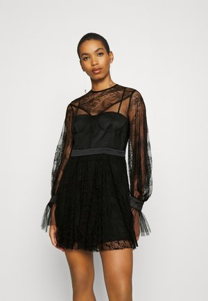 LOVE MINI DRESS - Sukienka koktajlowa - black
