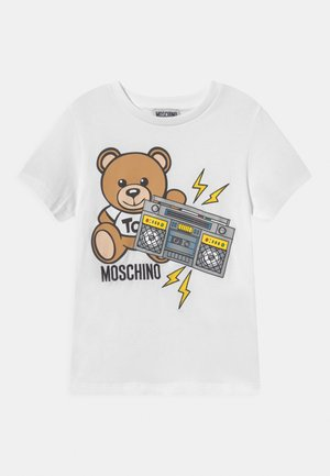 ADDITION UNISEX - Print T-shirt - optical white