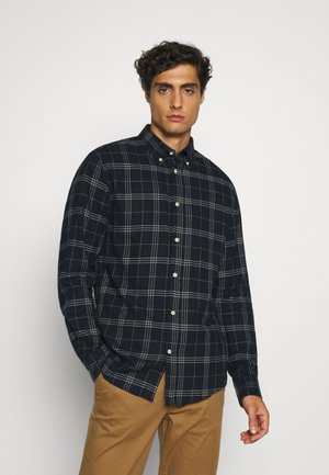 SLHSLIMFLANNEL SHIRT - Chemise - dark blue/grey