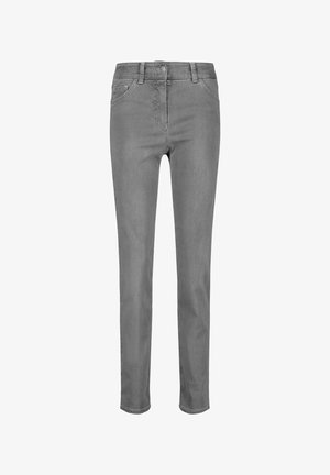 Slim fit jeans - grau mit use