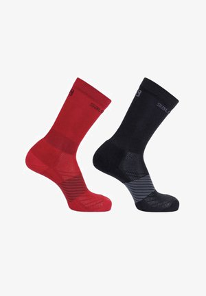 2 PACK - Socks - goji berry/black