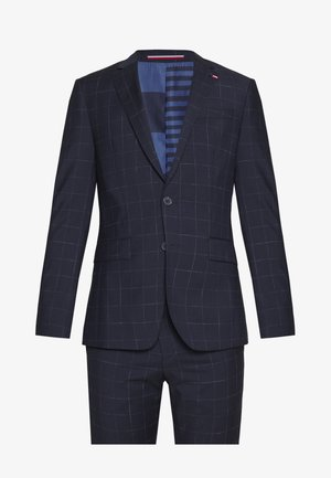 WINDOWPANE SLIM FIT SUIT - Costume - blue