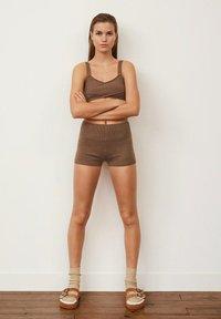 Mango - NICO - Shorts - marron moyen - 1