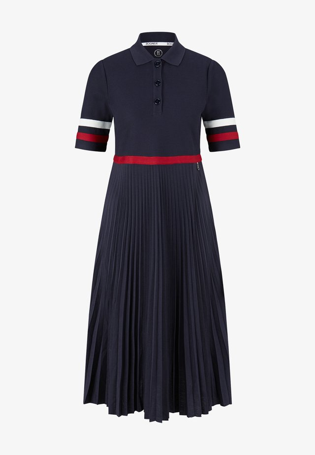 Długa sukienka - navy-blau