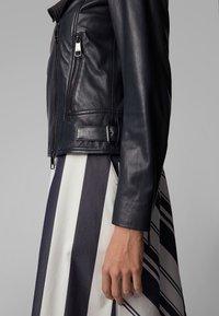 BOSS - JUANA - Leather jacket - open blue - 4