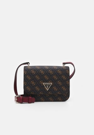 NOELLE MINI CROSSBODY FLAP - Torba na ramię - brown