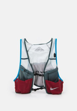 TRAIL VEST - Hydration rucksack - pure platinum/hasta/dark cayenne/laser blue