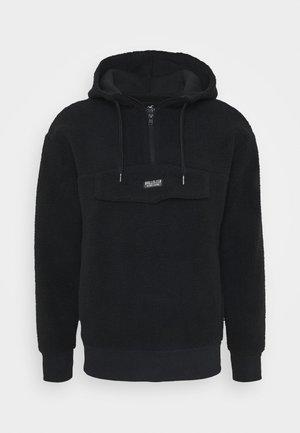 EXTERIOR - Jersey con capucha - black