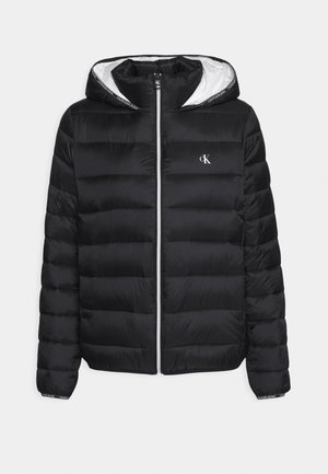 LOGO BINDING PUFFER - Winter jacket - black