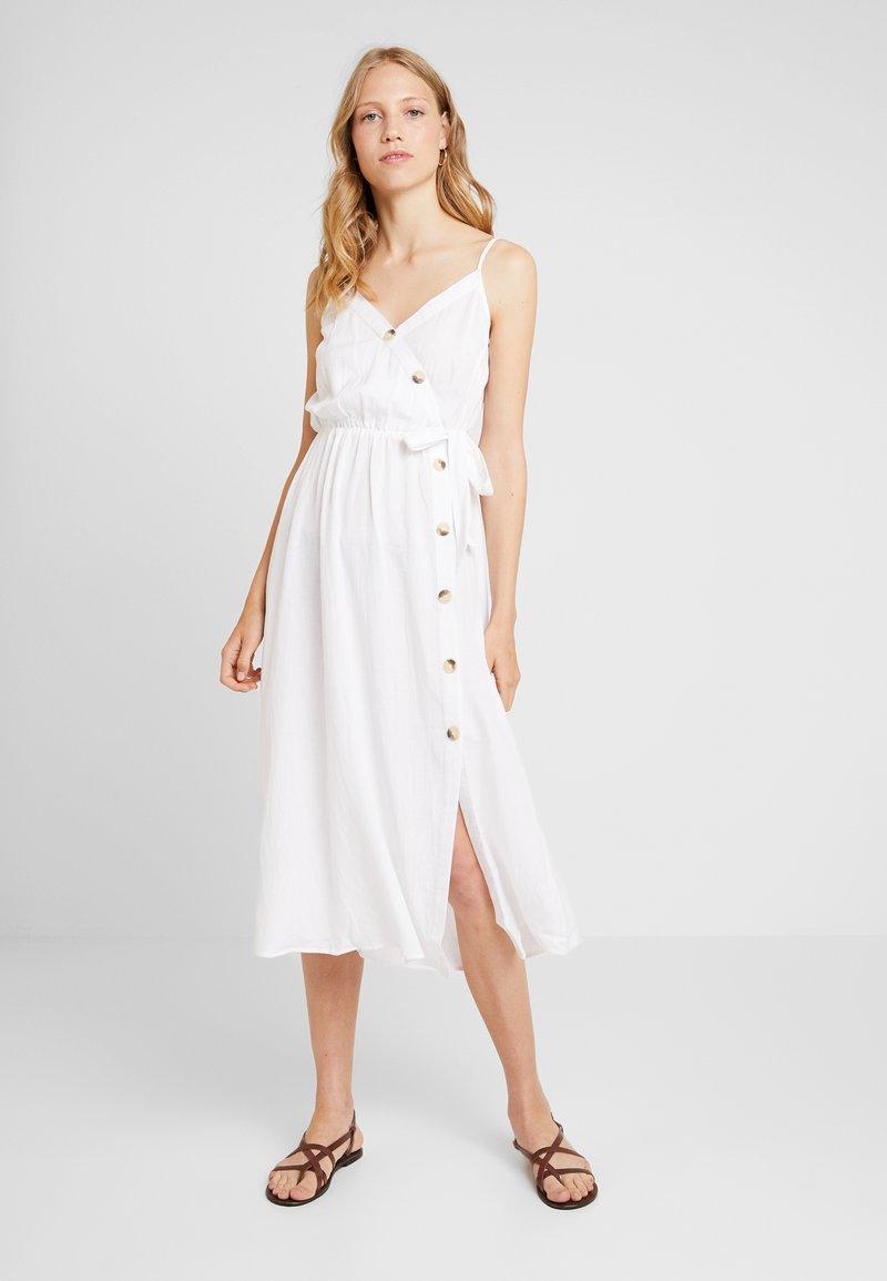 Dorothy Perkins - PLAIN TIE CAMI DRESS - Košilové šaty - white