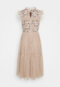 Maya Deluxe - EMBROIDERED RUFFLE MIDI DRESS - Cocktail dress / Party dress - taupe blush - 1