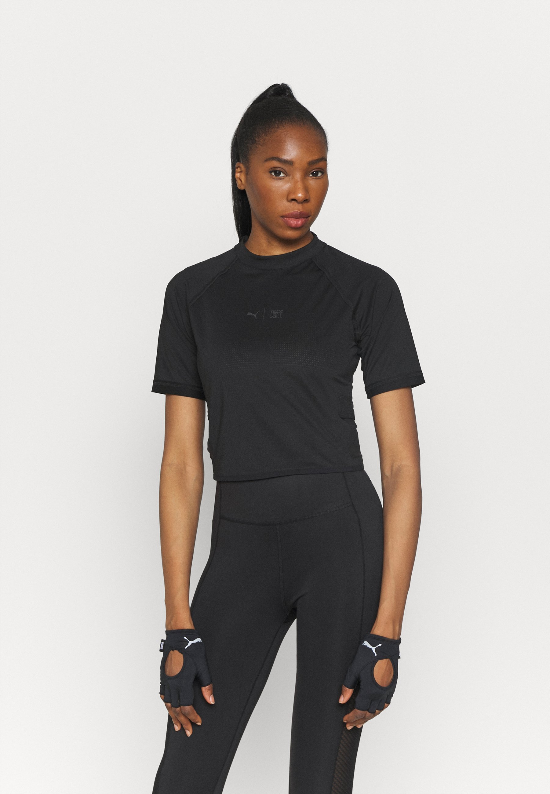 Women TRAIN FIRST MILE MOCK NECK  - Print T-shirt