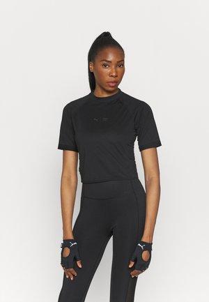 TRAIN FIRST MILE MOCK NECK  - Print T-shirt - black