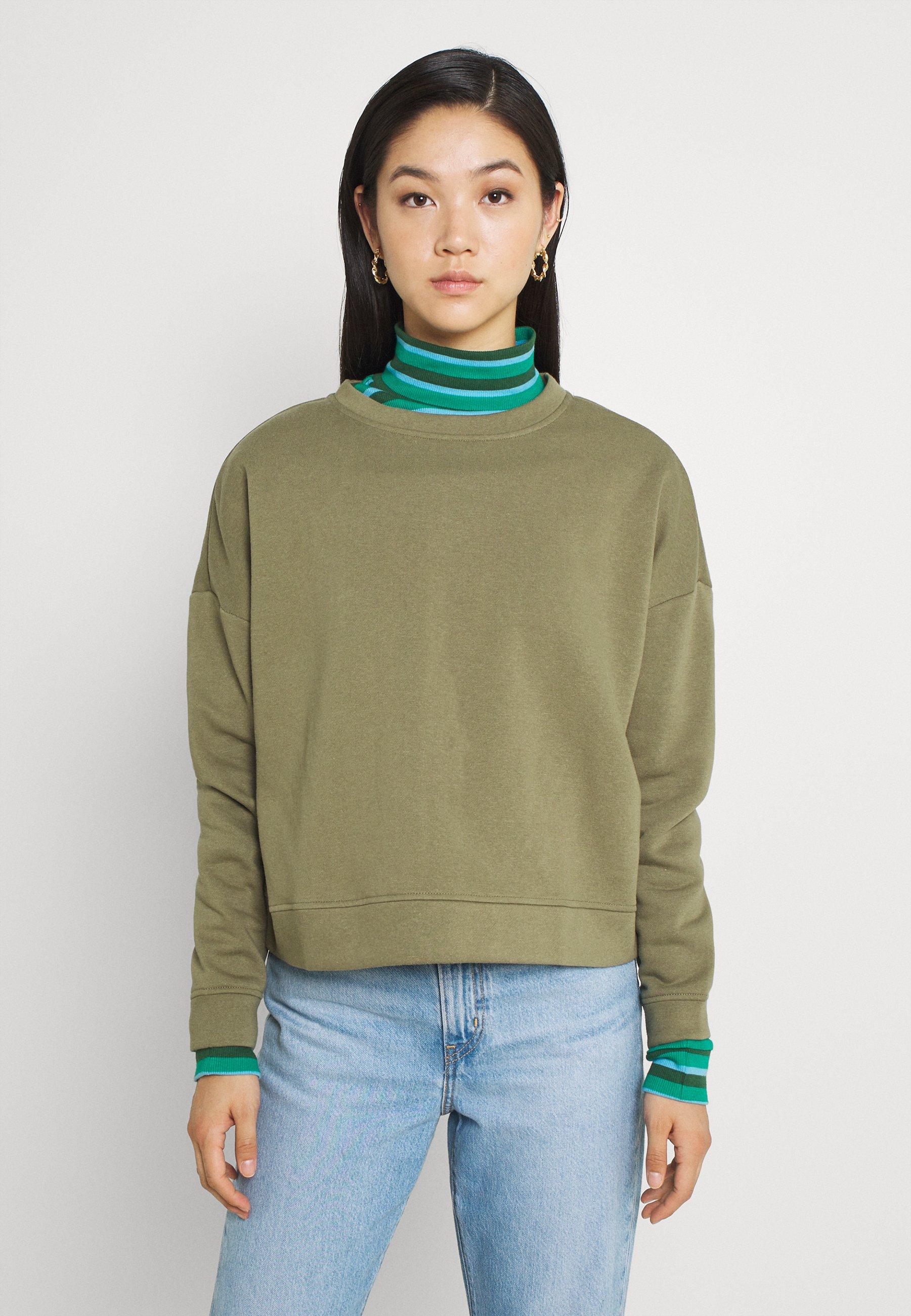 Women PCCHILLI - Sweatshirt - deep lichen green