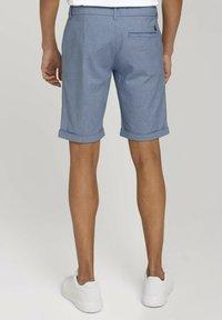 TOM TAILOR DENIM - Shorts - blue white dobby - 2