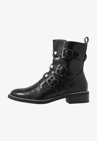 Tamaris - WOMS BOOTS - Cowboy/biker ankle boot - black - 1
