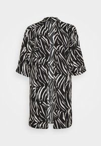 New Look Curves - ZEBRA KIMONO - Lehká bunda - black - 4
