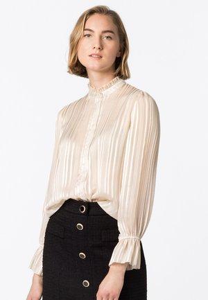 MIT LUREX - Button-down blouse - creme