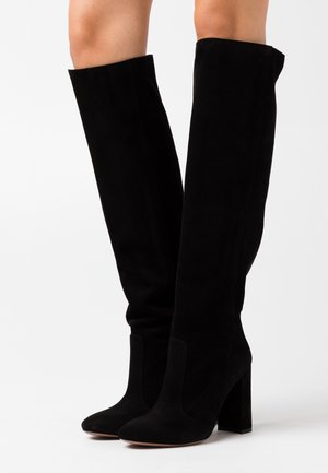 BOOT NO ZIP - Stivali con i tacchi - black