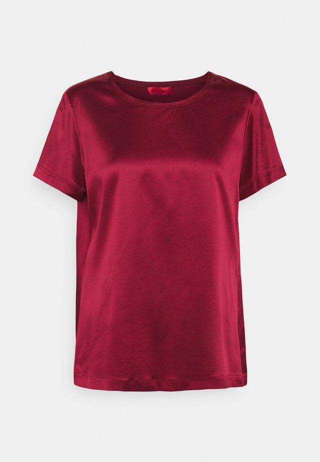 FLAVIA - T-shirt basic - burgundy