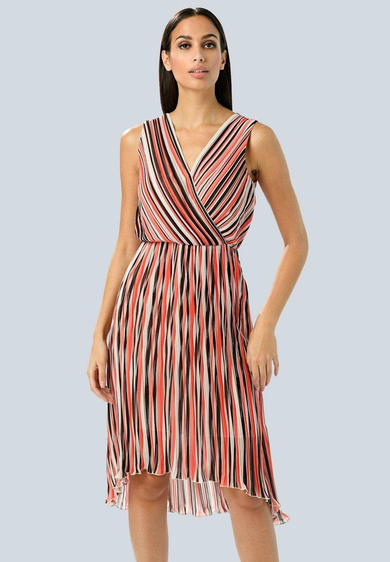 Alba Moda - Day dress - rot/koralle/weiß