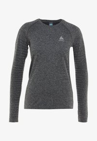 ODLO - CREW NECK SEAMLESS ELEMENT - Long sleeved top - grey melange - 4