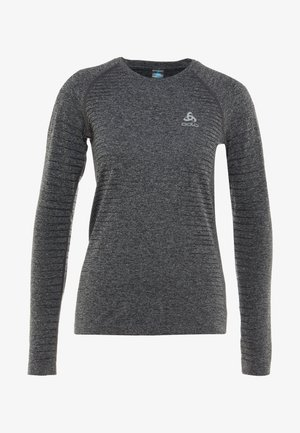 CREW NECK SEAMLESS ELEMENT - Top s dlouhým rukávem - grey melange