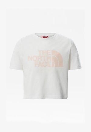 G S/S EASY CROPPED TEE - T-shirt print - tnf white