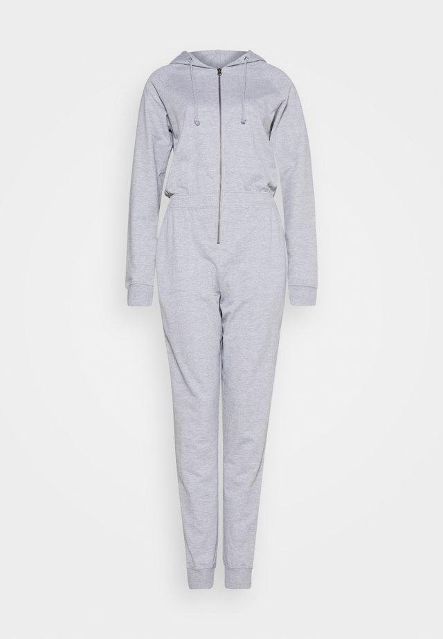 HOODED LOOP BACK - Overall / Jumpsuit /Buksedragter - grey