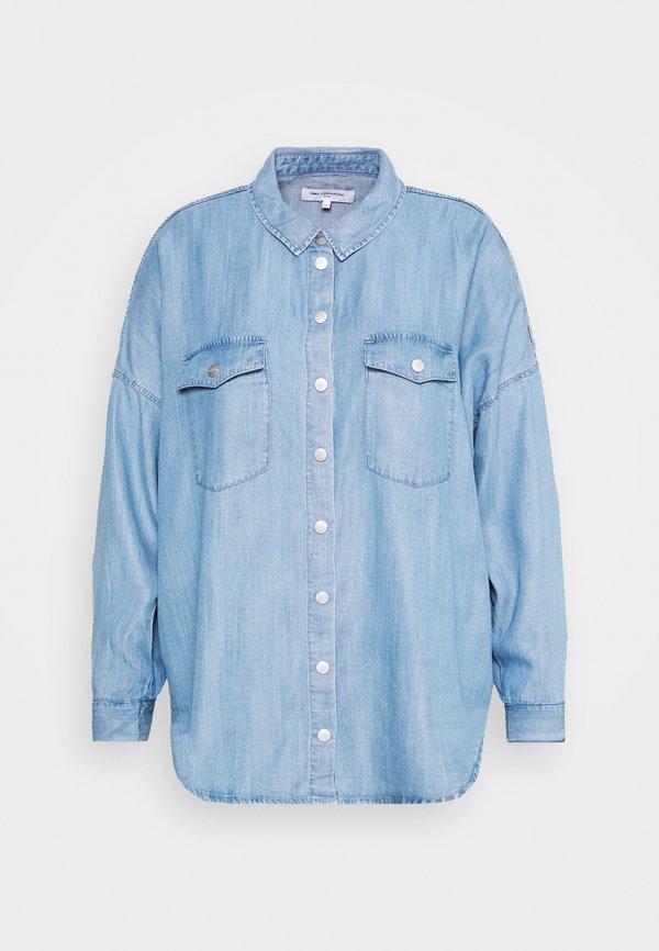 ONLY Carmakoma CARUSH LIFE OVERSIZE - Koszula - light blue denim/jasnoniebieski TVAS