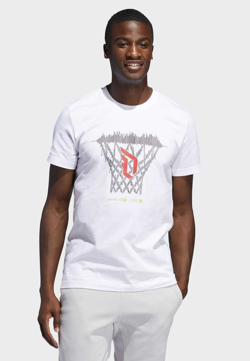 adidas Performance - DAME  - Print T-shirt - white