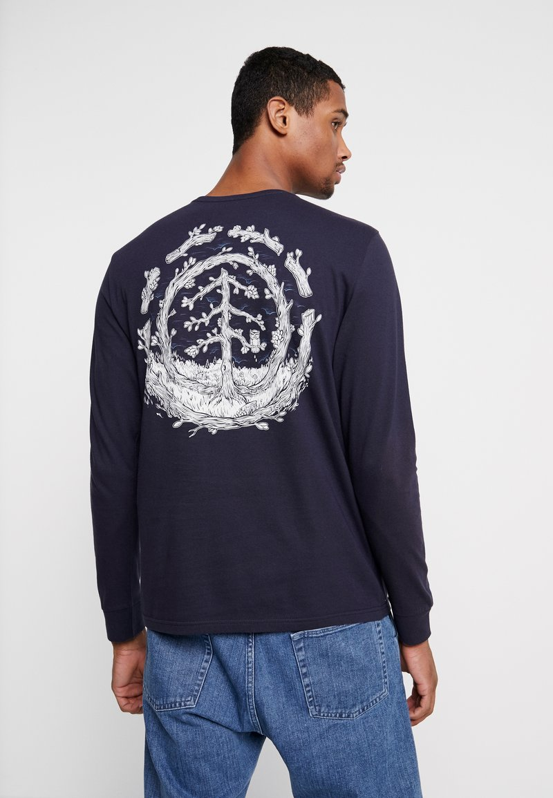Element - TOO LATE LOGO - Long sleeved top - eclipse navy