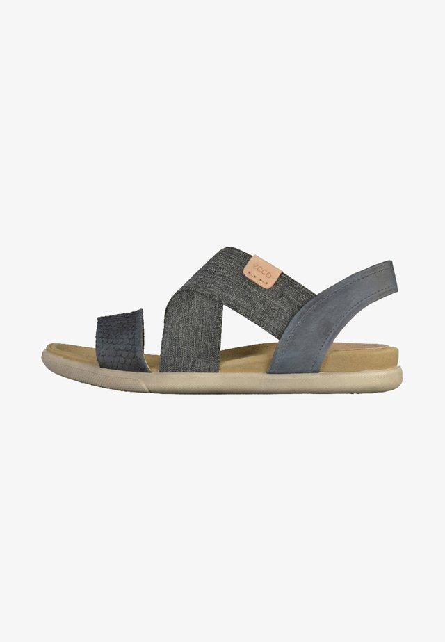 Sandaalit nilkkaremmillä - black/powder