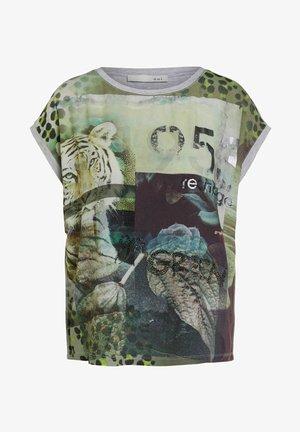 T-shirt imprimé - light grey green