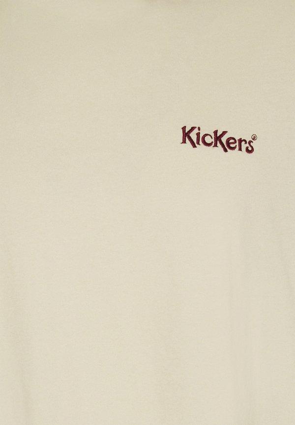 Kickers Classics TEE WITH CONTRAST EMBROIDERY - T-shirt basic - angora/beżowy Odzież Męska PIHP