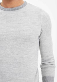 DeFacto - Stickad tröja - grey - 4