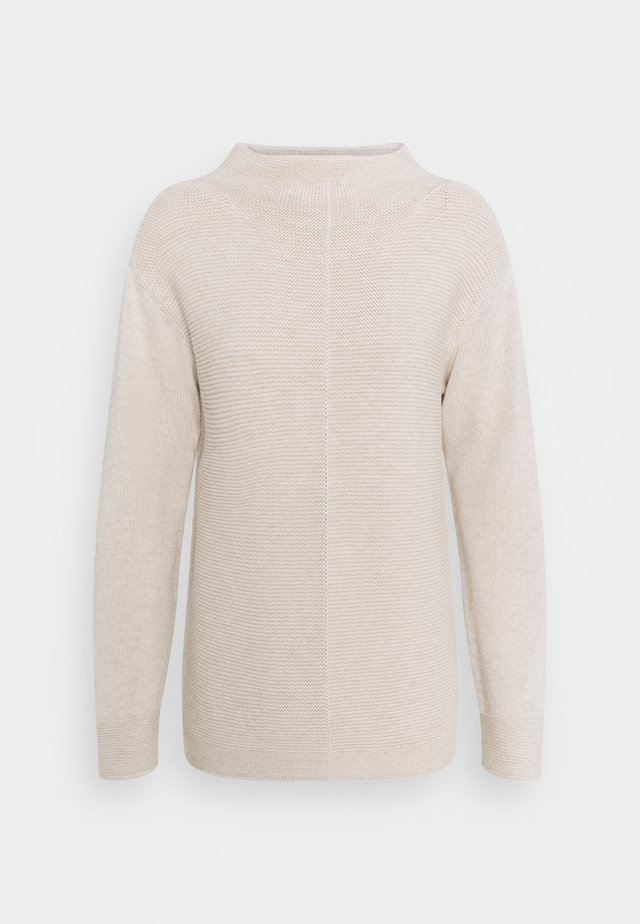 LONGSLEEVE STRUCTURE MIX TURTLENECK - Neule - sandy melange