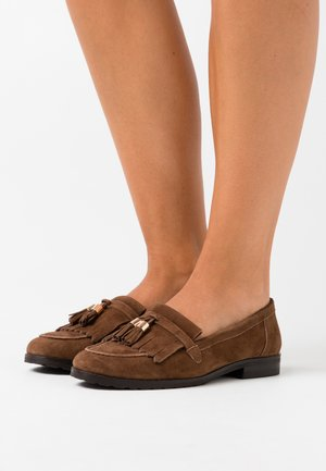 LEATHER - Slip-ons - brown