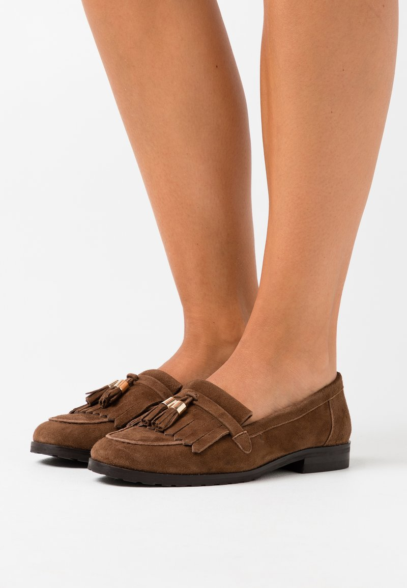 Anna Field Wide Fit - LEATHER - Nazouvací boty - brown