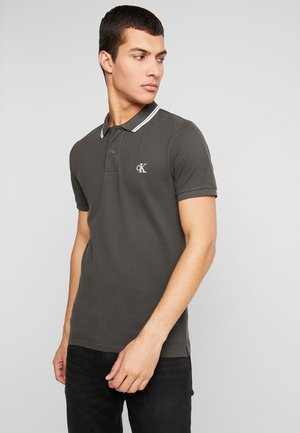 ESSENTIAL TIPPING SLIM FIT - Polo shirt - raven/bright white
