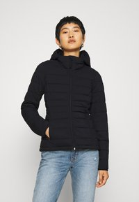 Abercrombie & Fitch - PACKABLE PUFFER POLY - Giacca da mezza stagione - black - 0