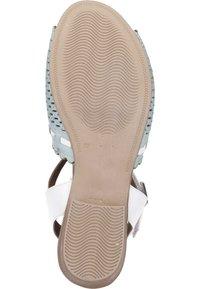 Piazza - Sandals - aqua/weiß/sand - 3